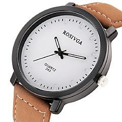 preiswerte Armbanduhren für Paare-Paar Quartz Armbanduhr Armbanduhren für den Alltag Leder Band Freizeit / Modisch Schwarz / Braun