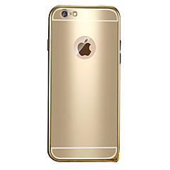Недорогие Кейсы для iPhone 6-Кейс для Назначение Apple iPhone 6 iPhone 6 Plus Покрытие С узором Кейс на заднюю панель Сплошной цвет Твердый Металл для iPhone 6s Plus