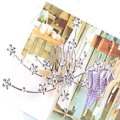 Χαμηλού Κόστους Κοσμήματα μαλλιών-Γυναικεία Κρυστάλλινο Πάρτι Γάμος Κρύσταλλο Απομίμηση Μαργαριταριού Χτενάκι