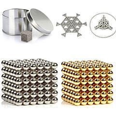 216st 3mm guld & silver diy magnetiska bollar sfär pärlor magiska magnet pussel verkställande byggsten 2 färg