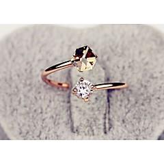 preiswerte Ringe-Damen Ring - Aleación Modisch Verstellbar Gold / Rosa Für Hochzeit / Party / Alltag / Strass