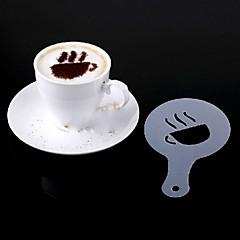 16pcs muovi fancy kahvin painaminen malli minimalistinen muotoilu pölyämistä pad