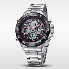 お買い得  メンズ腕時計-WEIDE 男性用 リストウォッチ デジタルウォッチ クォーツ デジタル 日本産クォーツ 30 m 耐水 アラーム カレンダー ステンレス バンド アナログ/デジタル チャーム シルバー - レッド ブルー シルバーとブラック 2年 電池寿命 / クロノグラフ付き / LCD / 2タイムゾーン / Maxell626 + 2025