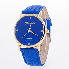 preiswerte Tolle Angebote auf Uhren-Damen Armbanduhr Schlussverkauf PU Band Blume / Freizeit / Modisch Schwarz / Weiß / Blau
