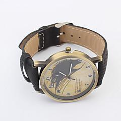 お買い得  大特価腕時計-女性用 レディース ファッションウォッチ クォーツ レザー バンド ハンズ ブラック / 白 / ブルー - ブラック レッド ブルー