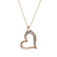 preiswerte Halsketten-Damen Kristall Anhängerketten / Anhänger  -  Strass, Österreichisches Kristall Herz, Liebe Gold Modische Halsketten Für Hochzeit, Party, Alltag