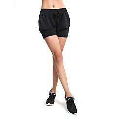 Yoga Pantolon Şort Nefes Alabilir Doğal Esnek Spor Giyim Siyah Kadın's Yoga Fitness Serbest Sporlar