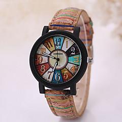 preiswerte Tolle Angebote auf Uhren-Herrn Armbanduhr / Uhr Holz Armbanduhren für den Alltag Leder Band Charme Schwarz / Weiß / Tianqiu 377