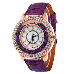 voordelige Dameshorloges-Dames Kwarts Zwevende kristallen horloge Vrijetijdshorloge Leer Band Elegant Modieus Zwart Wit Rood Bruin