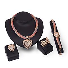 Zestawy biżuterii Vintage Urocza Imprezowa Do biura Na co dzień Łańcuszek Wyrazista biżuteria Modny Słodkie Style Imitacja pereł Cyrkonia