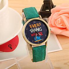 preiswerte Damenuhren-Damen Armbanduhr Quartz Schlussverkauf PU Band Analog Retro Modisch Schwarz / Weiß / Blau - Rot Grün Blau Ein Jahr Batterielebensdauer / Tianqiu 377