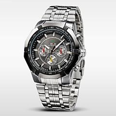 お買い得  メンズ腕時計-WEIDE 男性用 リストウォッチ クォーツ 30 m 耐水 ステンレス バンド ハンズ チャーム シルバー - ホワイト ブラック Brown 2年 電池寿命 / Maxell626 + 2032