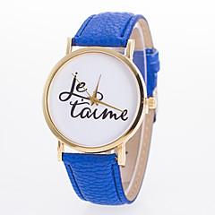 preiswerte Tolle Angebote auf Uhren-Damen Quartz Armbanduhr Armbanduhren für den Alltag PU Band Charme Freizeit Modisch Schwarz Weiß Blau Rot Orange Grün Rosa Lila Gelb