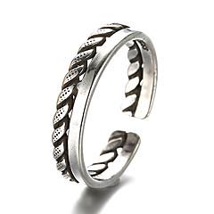 preiswerte Ringe-Bandring Einstellbarer Ring - Sterling Silber, Silber Retro Verstellbar Silber Für Alltag Normal