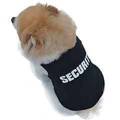 お買い得  犬用ウェア&アクセサリー-ネコ 犬 Tシャツ 犬用ウェア 警察/軍隊 ブラック コットン コスチューム ペット用 男性用 女性用 コスプレ ファッション 結婚式