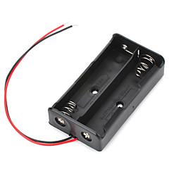 baterie cutie 7.4V 2 x 18650 caz titular cu piste