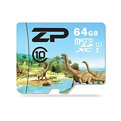 ZP 64GB بطاقة مايكرو SD بطاقة TF شريحة ذاكرة UHS-I U1 CLASS10