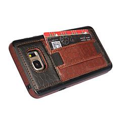 Недорогие Чехлы и кейсы для Galaxy Note 5-Для Samsung Galaxy Note Бумажник для карт / со стендом / Рельефный Кейс для Задняя крышка Кейс для Геометрический рисунокИскусственная