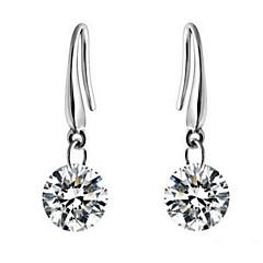 Χαμηλού Κόστους Γυναικεία Κοσμήματα-Κρεμαστά Σκουλαρίκια Ζιρκονίτης Cubic Zirconia Κράμα Ασημί Κοσμήματα Καθημερινά Causal