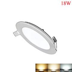 billige Indendørsbelysning-18W Panellamper 90pcs SMD 2835 1550-1700lm lm Varm hvid Kold hvid Naturlig hvid Justérbar lysstyrke Dekorativ Vekselstrøm 85-265 V 1 stk.