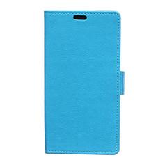 Для Кейс для Huawei Кошелек / Бумажник для карт / со стендом Кейс для Чехол Кейс для Один цвет Твердый Искусственная кожа HuaweiHuawei P9