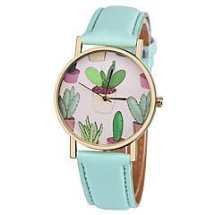 preiswerte Damenuhren-Damen Armbanduhr Armbanduhren für den Alltag Leder Band Modisch / Elegant Schwarz / Weiß / Braun / Ein Jahr