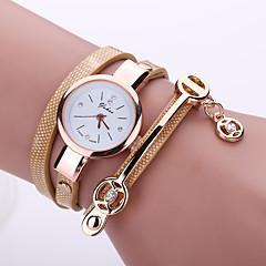 preiswerte Tolle Angebote auf Uhren-Damen Quartz Armband-Uhr Imitation Diamant Armbanduhren für den Alltag PU Band Freizeit Böhmische Modisch Schwarz Weiß Blau Rot
