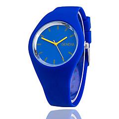 preiswerte Damenuhren-Damen Armbanduhr Armbanduhren für den Alltag Silikon Band Charme / Freizeit / Modisch Schwarz / Weiß / Blau / Ein Jahr / Tianqiu 377