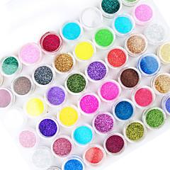 45pcs karışımı renk tırnak sanat akrilik tozu tırnak sanat dekorasyon