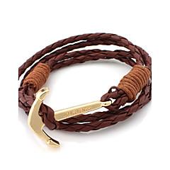 billige Herre Smykker-Herre Dame Charm-armbånd Unikt design Mode Læder Nylon Legering Smykker Smykker Til Bryllup Fest Daglig Afslappet Sport