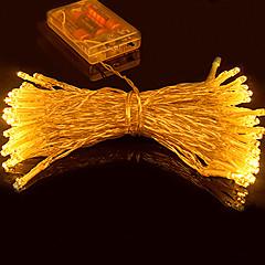 5m 50 conduit led batterie 3pcs de lumière de chaîne aa piles mariage de conte de fête de noël clignotant led bande
