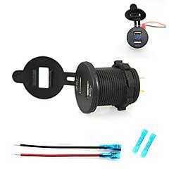Недорогие Автоэлектроника-iztoss 2.1a&2.1а Dual USB разъем зарядного устройства телефона зарядное устройство источник питания с синим светом и вольтметра 15cm