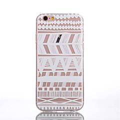 Для Кейс для iPhone 6 / Кейс для iPhone 6 Plus Прозрачный / С узором Кейс для Задняя крышка Кейс для Полосы / волосы Мягкий TPUiPhone 6s