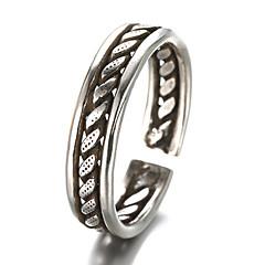 preiswerte Ringe-Herrn Bandring - Sterling Silber, Silber Retro, Modisch Eine Größe Silber Für Party / Alltag / Normal