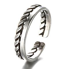 Pierścionki Postarzane Codzienny / Casual Biżuteria Srebro standardowe Damskie / MęskiePierścionki na palec środkowy / Obrączki /
