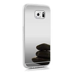 olcso Galaxy S6 tokok-Case Kompatibilitás Samsung Galaxy Samsung Galaxy S7 Edge Galvanizálás Fekete tok 3D figura Akril mert S7 edge S7 S6 edge plus S6 edge S6