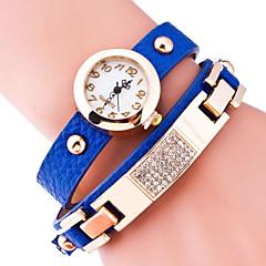 お買い得  レディース腕時計-女性用 ブレスレットウォッチ クォーツ ブラック / ブルー / レッド ホット販売 ハンズ レディース チャーム ファッション - ゴールデン ライトブルー ネービーブルー