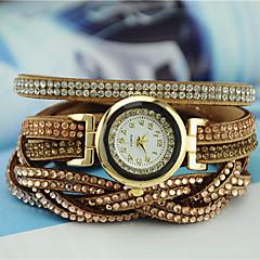 preiswerte Damenuhren-Damen Quartz Armband-Uhr Imitation Diamant PU Band Charme Modisch Schwarz Weiß Blau Braun Lila Rose