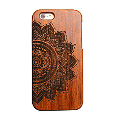 iphone 7 plus hout lucky flower carving concaaf convex Hard Cover voor de iPhone 6s 6 plus se 5s 5
