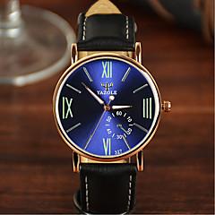 preiswerte Tolle Angebote auf Uhren-YAZOLE Herrn Damen Paar Armbanduhr Quartz 30 m Wasserdicht Leder Band Analog Charme Modisch Schwarz / Khaki - Schwarz / weiss Schwarz / Grün Schwarz und Blau