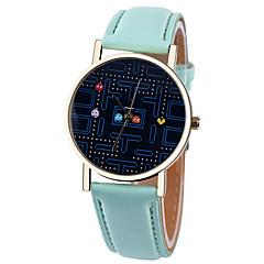 preiswerte Damenuhren-Damen Armbanduhr Armbanduhren für den Alltag Leder Band Modisch / Elegant Schwarz / Weiß / Braun / Ein Jahr / Tianqiu 377