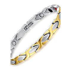 Férfi Lánc & láncszem karkötők Mágnes-terápia jelmez ékszerek Titanium Acél Ékszerek Kompatibilitás Napi Hétköznapi