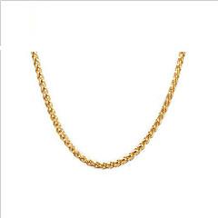 お買い得  ネックレス-女性用 ステンレス鋼 ゴールドメッキ 18Kゴールド チェーンネックレス  -  カジュアル ファッション 欧風 ゴールデン ネックレス 用途 日常 カジュアル