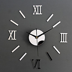 cheap Stickers & Decals-Acrylic Wall Stickers Home Decoration Wall Clock Watch Mirror Mirror living Room Wall Clock