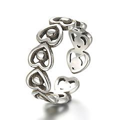 preiswerte Ringe-Bandring Einstellbarer Ring - Sterling Silber, Silber Retro, Punk Verstellbar Silber Für Alltag Normal