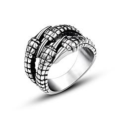 Недорогие Женские украшения-Кольцо - На заказ, Мода, Открытые Стандартный размер Серебряный Назначение Повседневные