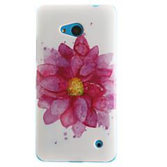 Недорогие Чехлы и кейсы для Nokia-Кейс для Назначение Nokia Lumia 630 Nokia Nokia Lumia 530 Кейс для Nokia С узором Кейс на заднюю панель Цветы Мягкий ТПУ для