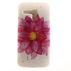 Недорогие Чехлы и кейсы для Motorola-Кейс для Назначение Moto G / Motorola Кейс для Motorola С узором Кейс на заднюю панель Цветы Мягкий ТПУ для