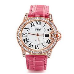 preiswerte Tolle Angebote auf Uhren-Damen Armbanduhr Armbanduhren für den Alltag / / Leder Band Freizeit / Modisch Schwarz / Weiß / Rot / Ein Jahr / Tianqiu 377