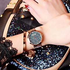 preiswerte Damenuhren-Damen Modeuhr Armbanduhren für den Alltag Edelstahl Band Glanz Rotgold